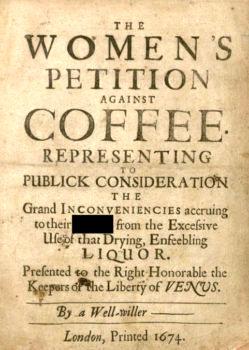 چرا زنان قرن هفده علیه قهوه شوریدند؟