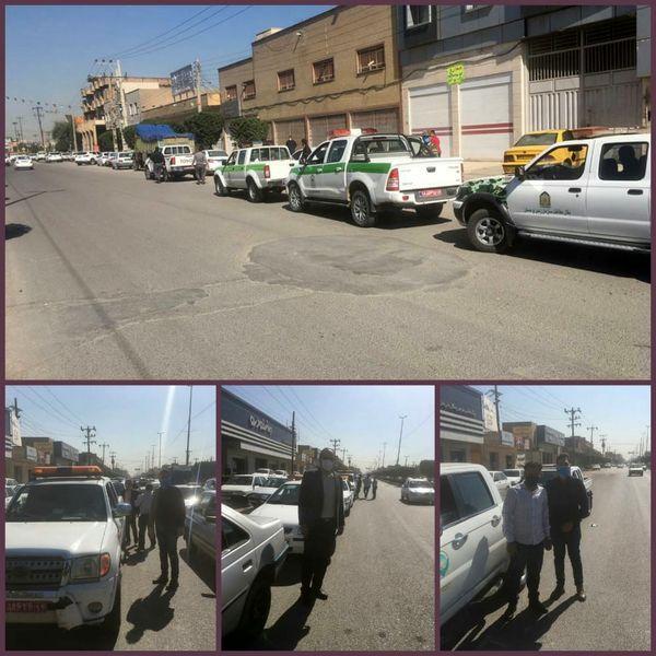 برگزاری مانور عملیاتی مشترک حافظان زمین در خوزستان