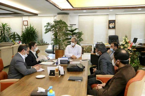 دیدار مدیر جهاد کشاورزی فریمان با وزیر جهاد کشاورزی