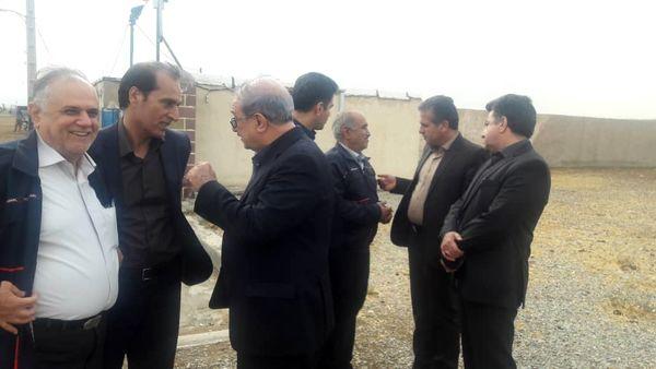 بازدید معاون وزیر جهاد کشاورزی از طرح 500هکتاری آبیاری تخت فشار در شهرستان ری