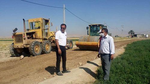 احداث 9 کیلومتر جاده بین مزارع در کازرون
