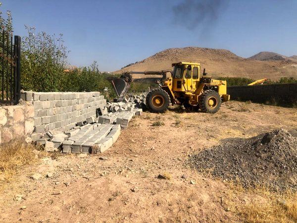 آزاد سازی۳ هکتار از اراضی کشاورزی قزوین