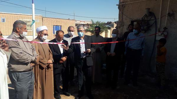 گلنگزنی و افتتاح پروژه ساخت 5 واحد مسکونی در خوزستان