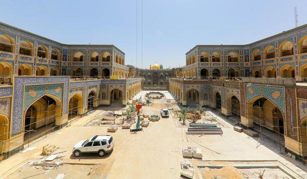 پایان ساخت صحن حضرت زهرا (س) با مصالح ایرانی
