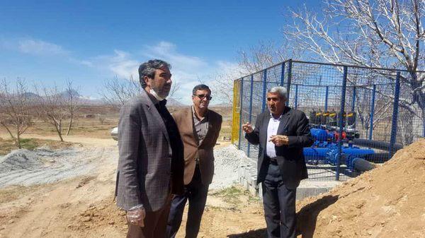 390 هکتار از اراضی کشاورزی سامان به سیستم نوین آبیاری تجهیز شد