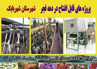 بهرهبرداری از 3 طرح کشاورزی و دامپروری در شهرستان شهربابک