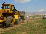 تخریب 22 بنای غیر مجاز در اراضی کشاورزی شهرستان البرز