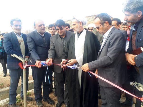 افتتاح پروژه آبیاری تحت فشار امیرآباد شهرستان کیار