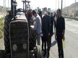 بازدید فنی 65 دستگاه ماشین آلات کشاورزی شهرستان خداآفرین جهت اخذ پلاک انتظامی در ماه جاری