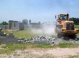 حفاظت از اراضی کشاورزی با جمع اوری مصالح در منطقه بنه یکه شهربابک