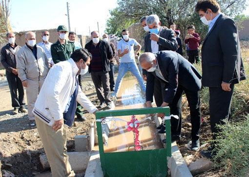 پروژه کانال عمومی و پایاب چاههای عمیق روستای وانلوجق مرند به بهرهبرداری رسید
